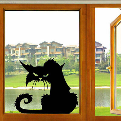 CE80 DIY Fierce Cats Pattern Glass Stickers Decals Bedroom TV Wall Home Decor