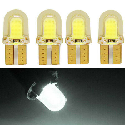4 X White T10 Car Lights SMD LED Bulbs Interior W5W 501 COB Wedge Sidelight Lamp