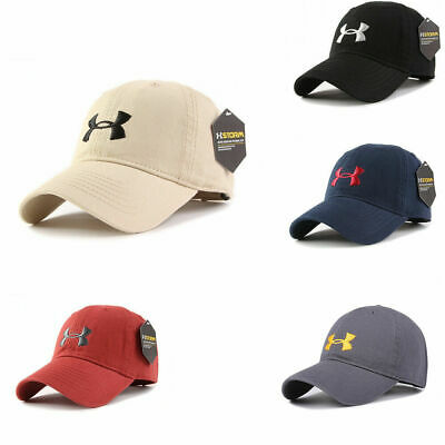 the latest 98195 828a5 Under Armour Baseball Cap Sport Adjustable Mens Womens Golf Summer Hat One  Size