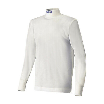 Sparco SOFT-TOUCH longsleeve t-shirt white (FIA homologation) - Genuine - M