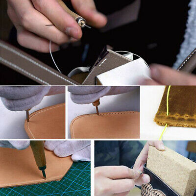 Awl Diamond Cone Leather Stitching Sewing Leather Crafts Home Handmade Tool N7