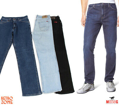 Vintage Mustang Tramper Stretch Mens Straight Classic Fit Jeans Grade A