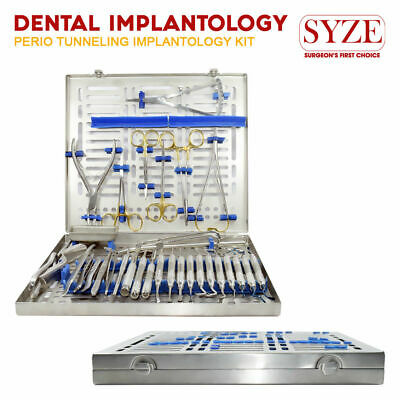 Dental Implant Surgery Kit Surgical Extraction Tray Setup Periodontal Instrument