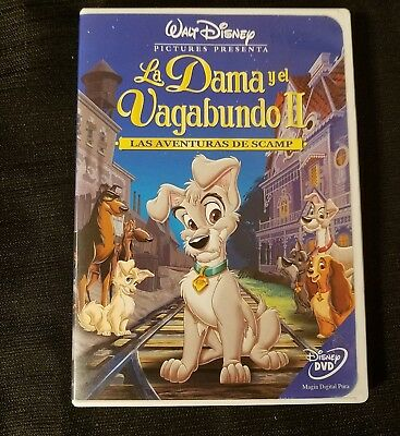 La Dama y el Vagabundo Disney Latino Spanish Mexican DVD Lady and the Tramp RARE