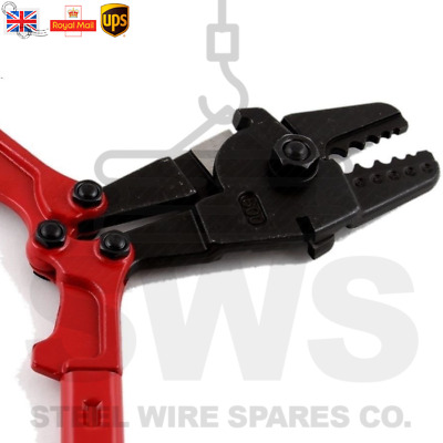 """Wire Rope Rigging Tool - Red 24"""" Ferrule Crimping Swaging Cutters Pliers"""