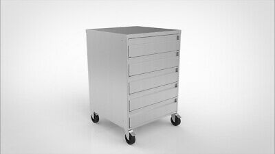 Stainless steel 5 drawer Unit