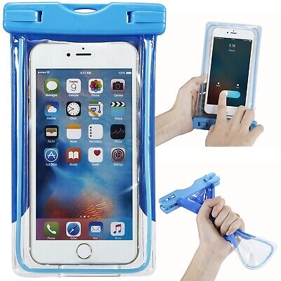 Waterproof Underwater Bag Pouch Dry Case Cover Blue For iPhone Samsung OnePlus