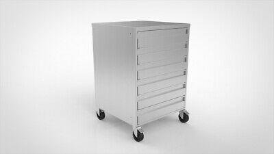 Stainless steel 6 drawer Unit