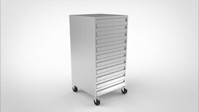 Stainless steel 10 drawer Unit