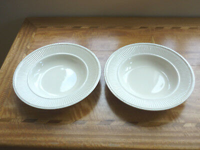 Two Wedgwood Queen's Ware Edme Soup Bowls