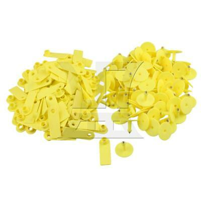 5.2x1.8cm Ear Tag for Small Livestock Sheep Pig Blank Set of 100 Yellow