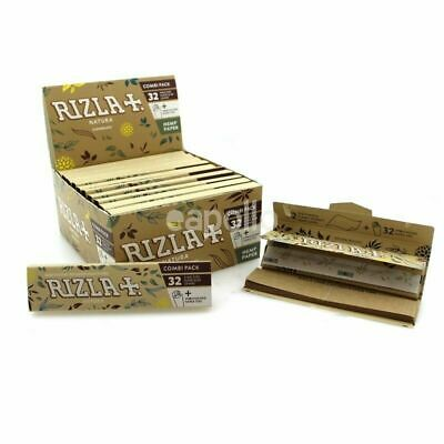 NEW Rizla Natura King Size Combi Pack Rolling Papers & Tips Natural Hemp Papers