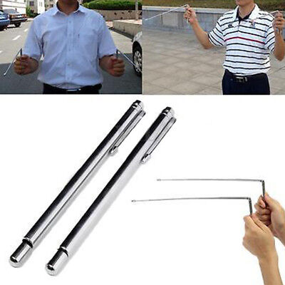 KE_ 2pc Sliver Brass Dowsing Divining Rods Water Witching Stick Lost Detector
