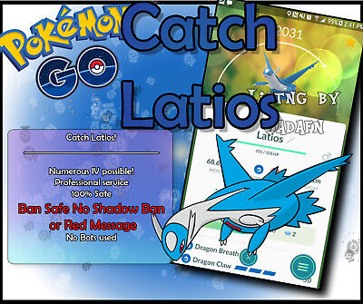 Pokemon Go Latios- 100% guaranteed limited time offer! Buy 3 get 1 free