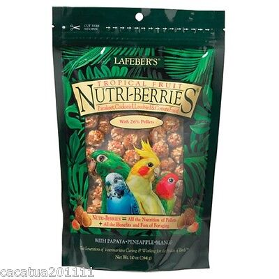 Lafeber Nutriberries Tropical Fruit 284G - Cockatiel Food/ Ultimate Treat