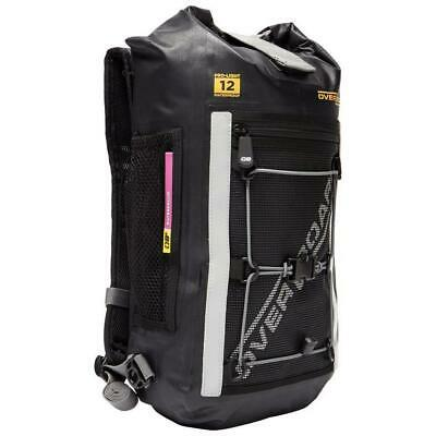 Waterproof black backpack rucksack lightweight 12 motorcycle touring scooter