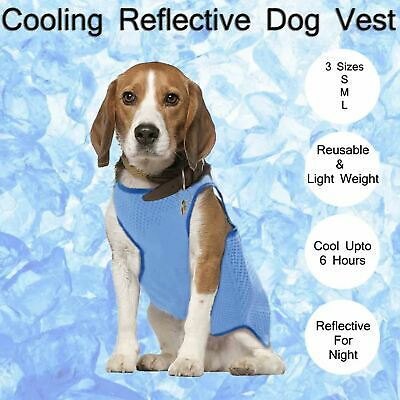 Dog Cooling Vest, Breathable Cooling Coat Outdoor Anti-heat Summer Jacket
