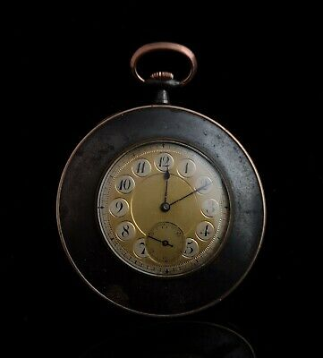 Antique gold and gunmetal pocket watch, Edwardian