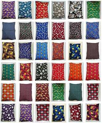 Dog Bed Cover Extra Large Pet Cushion Removable Zipped Cover Assorted 120x80cm