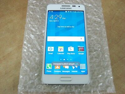 White Samsung Galaxy Alpha model SM-G850A smartphone, 32GB