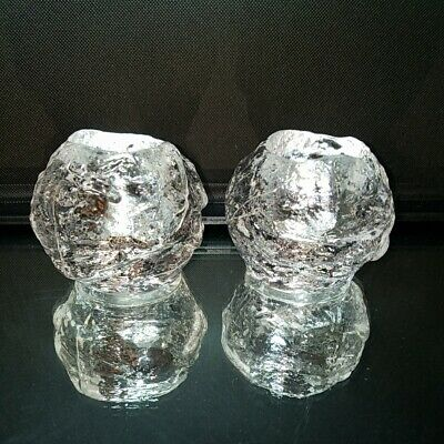 1 (One) VINTAGE KOSTA BODA Crystal Snowball Holiday Votive Candle Holder