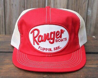 Vtg K BRAND PRODUCTS USA Made Trucker Hat Snapback Cap Patch Ranger Boats  Fishin 936d400ef507