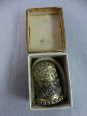 Solid Silver Charles Horner Thimble Chester 1903-4 No 9 original box Blairgowrie