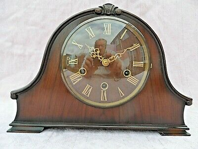 Vintage Smiths Wooden Cased Westminster Chime 8 Day Mantle Clock Superb Gwo