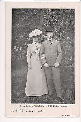 Vintage Postcard Queen Wilhelmina of Netherlands & Prince Hendrik Mecklenburg