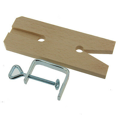 Jewelers Deluxe V-Slot Hardwood Bench Pin And Metal Clamp Workbench Accessory