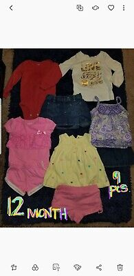 Toddler Girls Clothing Lot Size 12 month 9piece lot