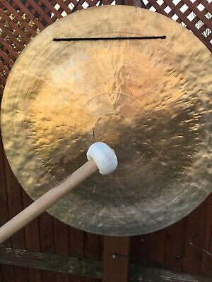 Gong Greater than 24 Inch about 600mm with mallet.