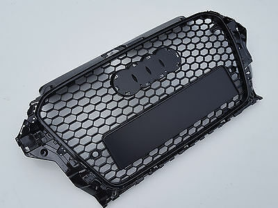 Gloss black honeycomb mesh car grill for Audi A3 8V 2012-2016 S3 RS3 with PDC