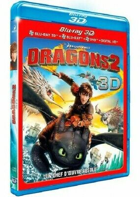 Dragons 2 COMBO BLU-RAY 3D + BLU-RAY + DVD NEUF SOUS BLISTER