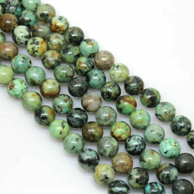 Natural Round Gemstone Turquoise 4/6/8/10/12mm African Beads Making Jewelry DIY