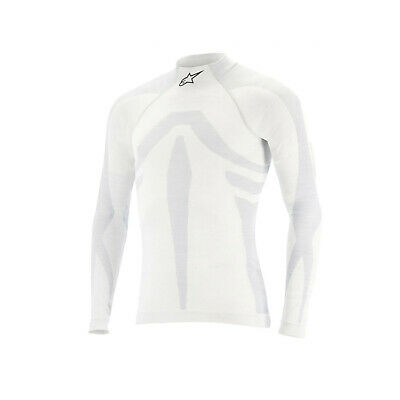 Alpinestars ZX EVO Longsleeve Top White (with FIA homologation) - Genuine - XS/S