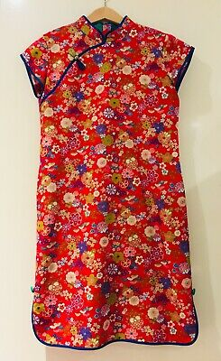 Girls Chinese Cheong Sum Dress Size XL(11-12)V.G.Condition
