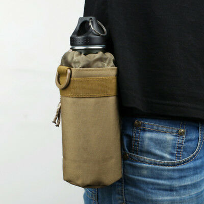 Outdoor Tactical Molle Water Bottle Holder Pouch Military Sport Bag Hiking LH