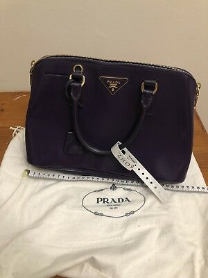 4bd06000efde AUTHENTIC PRADA PATENT Saffiano Lux Bauletto Bag from Reebonz ...