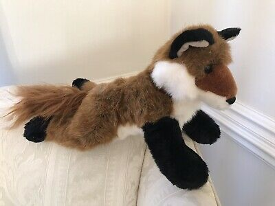 "Amber Red Fox plushed stuffed animal Douglas Cuddle Toy 14"" Long Med Realistic"