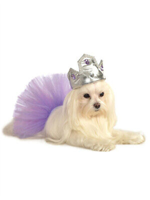Soft Silver Princess Prince Queen King Crown Tiara Hat For Pet Dog