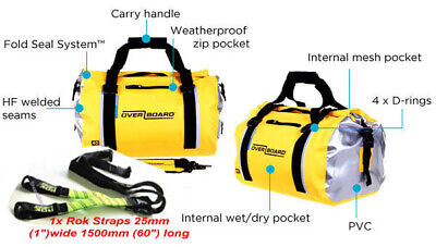 95d6a863c5ac Waterproof yellow duffel bag roll top bag compact 40 litre motorcycle  touring