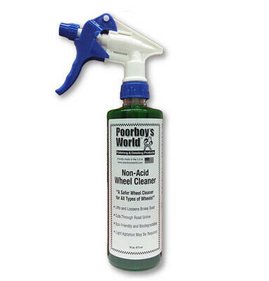 Poorboys Non Acid Wheel Cleaner For Alloy Steel Polished Chrome Wheels
