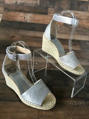 b71a1adfd74 WOMEN'S GLACEE OF the MOMENT SIZE 6 M SHOE WEDGE SANDAL SILVER COLOR ...