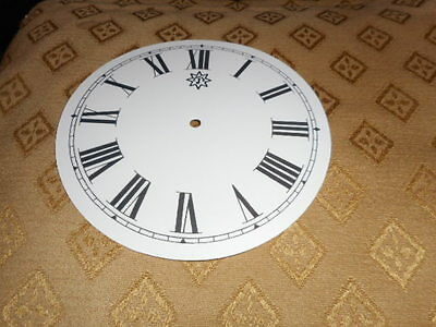 "Round Junghans Paper Clock Dial -  5 1/4"" M/T -GLOSS WHITE-Clock Parts/Spares *"