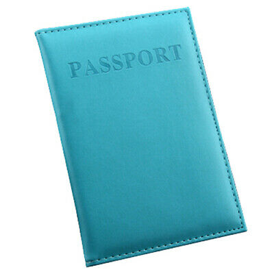 Passport Holder Soft Case Cover Travel Safe Bright Loss Prevention Blue NEW