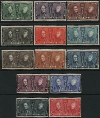 BELGIUM: 1925 Sg 410-422 Stamp Ann L.M.Mint Set of 13 Stamps Cat £74.50 (22484)