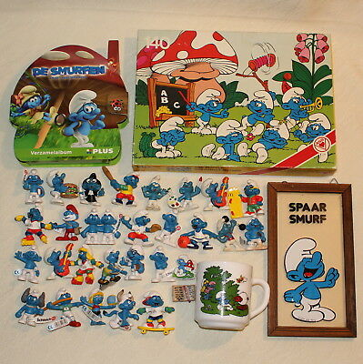 Smurfs Huge Collection Rare Vintage Modern PVC Figures Puzzle Mirror Mug Lot