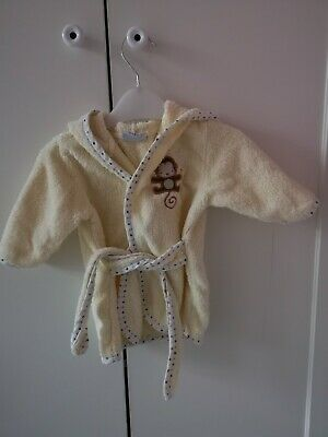 Beautiful, yellow unisex Baby dressing-gown 0-3 months