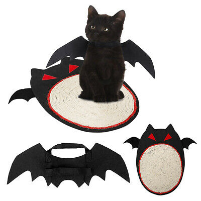 Cat Toy Scratching Grinding Claw Carpet Board Mat Halloween Bat Pet Toys PS252